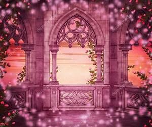 Princess Castle Fantasy Backdrop — Stock Photo ...