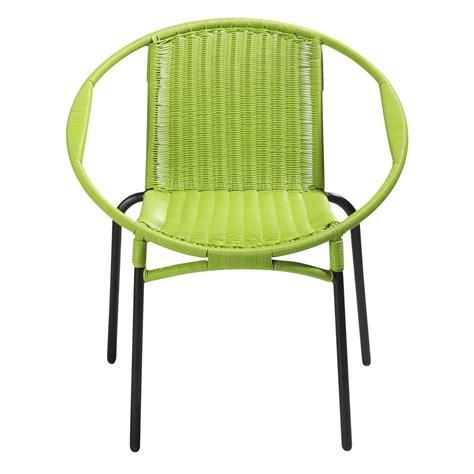 fauteuil de jardin rond vert rio maisons du monde