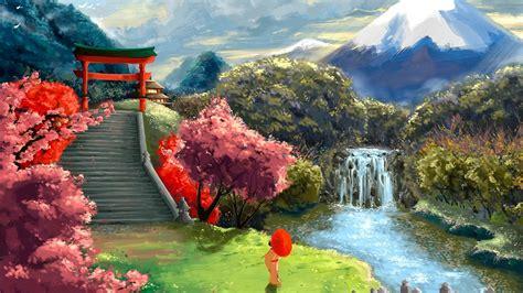 japanese water art wallpapers top  japanese water