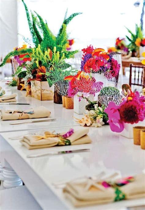 57 Cheerful Tropical Wedding Table Settings Happyweddcom