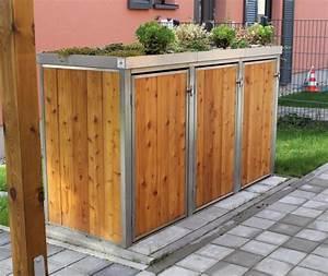 Unterstand Für Mülltonnen : m lltonnenbox l rche ii f r drei 120 o 240 liter m lltonnen ~ Lizthompson.info Haus und Dekorationen