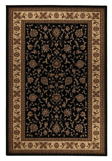 Rugs With by Choose Brilliant 620 Black Traditional Rug Rugspot