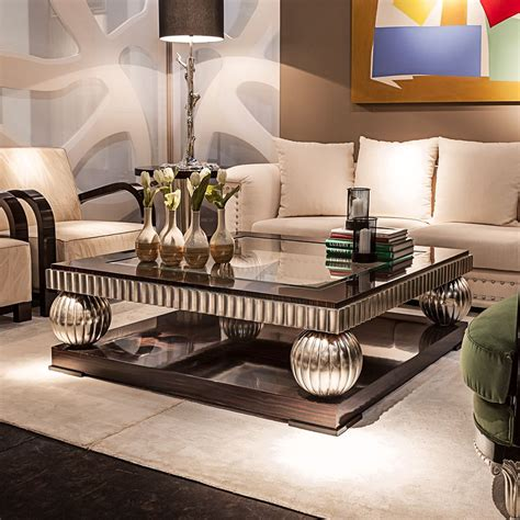 Design of living rooms denelli italia proposes the creation of an ideal living space that allows you to unwind and enjoy the creative and functional. Ebony And Silver Square Coffee Table in 2019 | Decorating coffee tables, Round coffee table ...