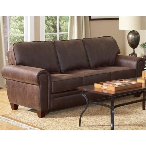 Microfiber And Loveseat by Coaster Bentley And Rustic Microfiber Sofa In