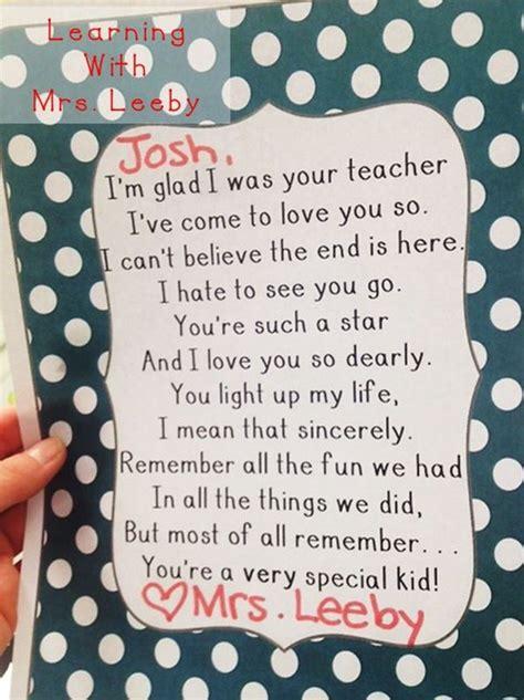goodbye letter      year student teacher