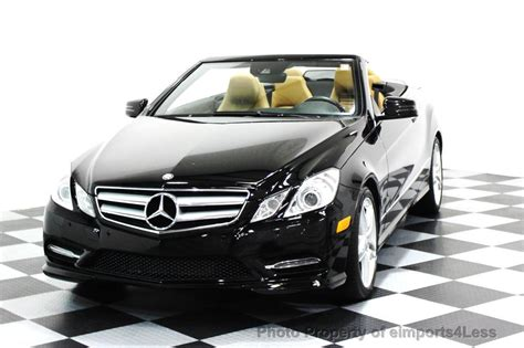 This is a great car to drive with the top down, heated / cooled seats / heated neck scarf vent 2013 Used Mercedes-Benz CERTIFIED E550 V8 AMG SPORT CONVERTIBLE P2 NAVI at eimports4Less Serving ...