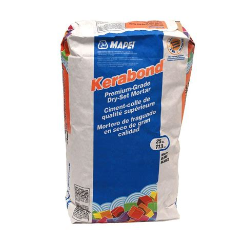 mapei kerabond mapei kerabond 25 lb dry set mortar 0010025 the home depot