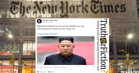 york times officialize kim jong uns death