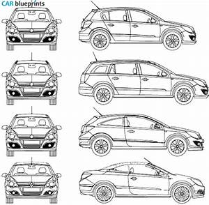 car blueprints opel astra blueprints vector drawings With vauxhall cars s