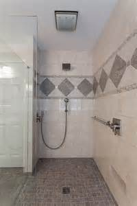 Houzz Small Bathroom by Curbless Shower Design Lou Vaughn Remodeling