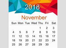 Free November 2018 Printable Calendar Blank Templates