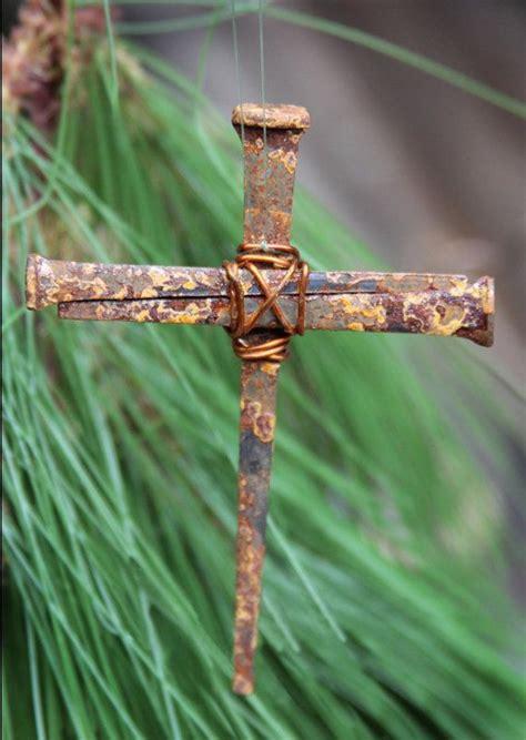 cross ornaments christian rustic metal symbolic cross