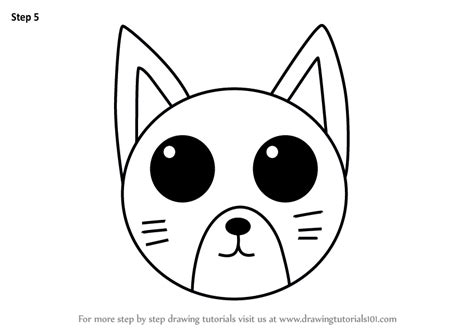 learn   draw  cat face  kids animal faces