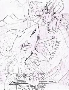 WIP: Sharktopus vs Piranhaconda Poster by AVGK04 on DeviantArt