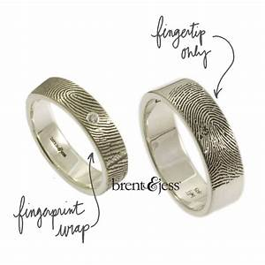 personalized fingerprint wedding bands from brent jess With finger print wedding ring