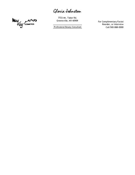printable personal letterhead templates