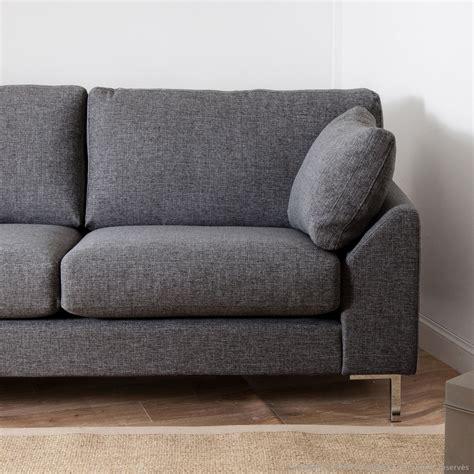 canapé de canapé tissu déhoussable droit fixe