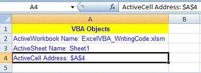 starting  vba  excel writing vba code  macros