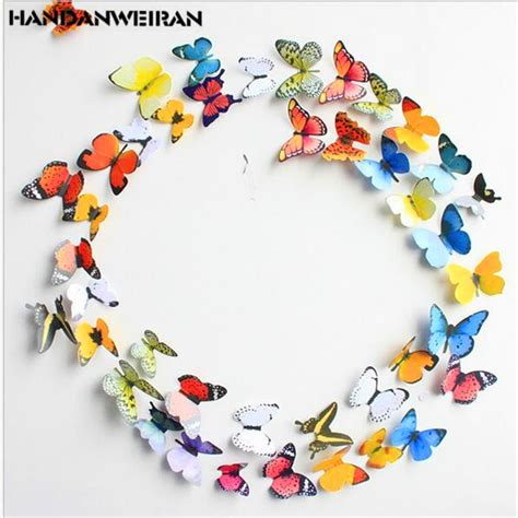 simulation  butterfly wall stickers double sided