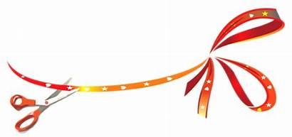 Opening Ribbon Invitation Card Transparent Creative Background