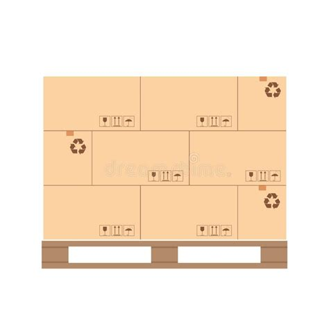 pallet  boxes stock vector illustration  moving