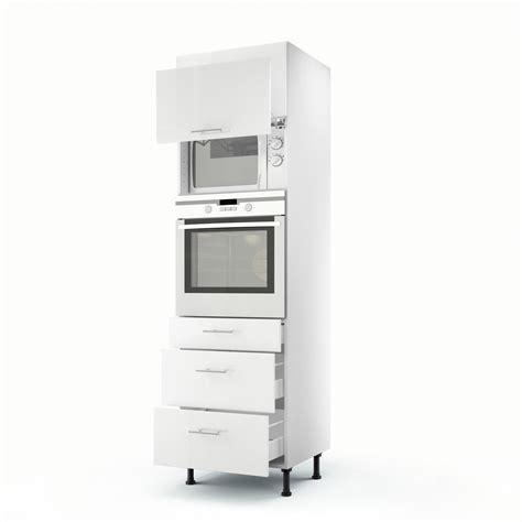 colonne cuisine 50 cm largeur meuble de cuisine colonne blanc 2 portes 3 tiroirs h 200 x l 60 x p 56 cm leroy merlin