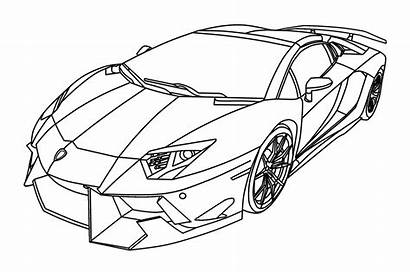 Lamborghini Coloring Drawing Aventador Centenario Sketch Kleurplaten