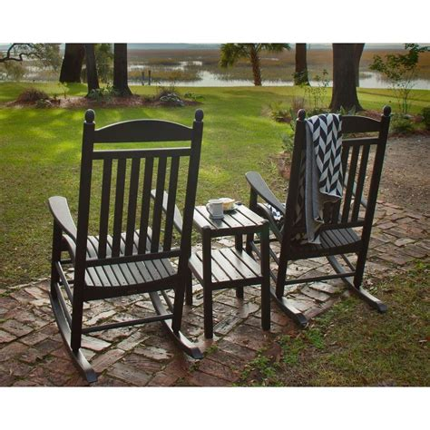 Polywood Rocking Chair Set by Polywood Jefferson Style 3 Outdoor Rocking Chair Set