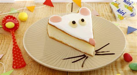 cuisine rigolote recette gâteau au fromage kiri la souris kiri