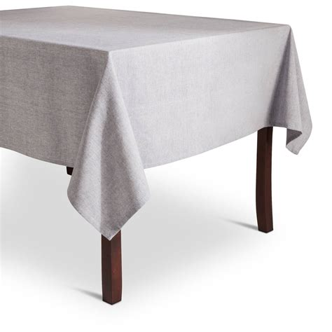 dining room table cloths target blue chambray tablecloth threshold ebay