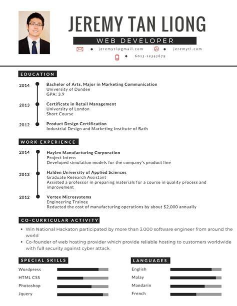 contoh resume terbaik buat pencari kerja mysemakan