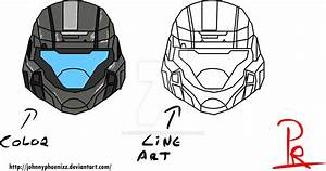 ODST Helmet color/w Line Art by JohnnyPhoenixz on DeviantArt