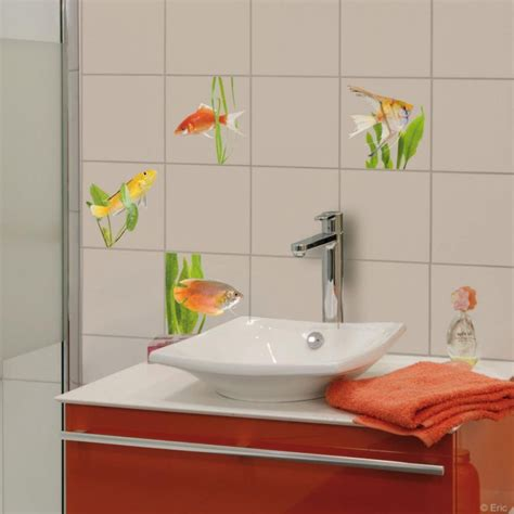 stickers carrelage mural poissons d eau douce de plage sticker made in sur avenue