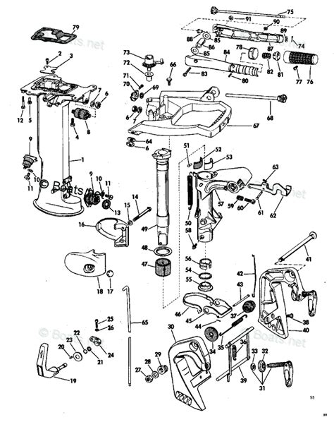 Evinrude 48 Spl Diagram by Evinrude Outboard Parts By Hp 6hp Oem Parts Diagram For