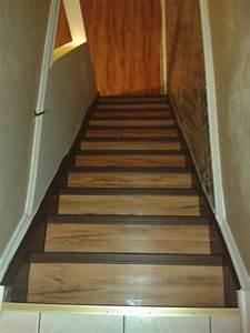 Stairs on vinyl plank flooring vinyl planks and vinyl for How to install vinyl plank flooring on stairs