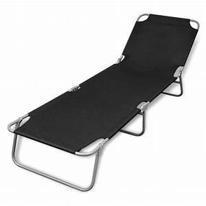 Bain De Soleil Noir : acheter bain de soleil noir pliable avec dossier ajustable ~ Edinachiropracticcenter.com Idées de Décoration