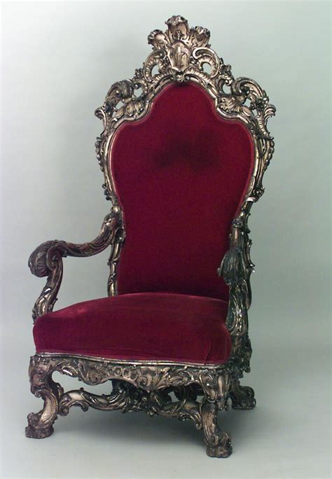 french regence style cent gilt throne chair
