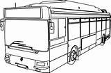 Bus Coloring Line Buses Drawing Draw Sheet Vw Getdrawings Printable Getcolorings sketch template