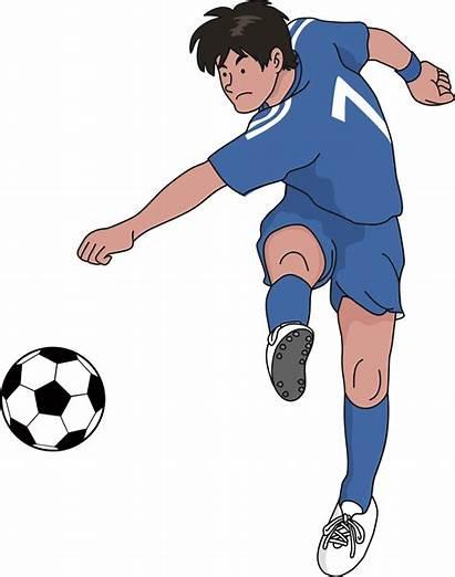 Soccer Kick Clipart Ball Clip Football Shooting