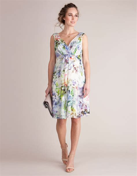 Floral Silk Maternity Cocktail Dress Seraphine
