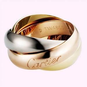 Bague 3 Ors Cartier : bague trinity de cartier gm 3 ors 750 ~ Carolinahurricanesstore.com Idées de Décoration