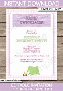 Birthday Candy Bar Wrappers Template Free Glamping Birthday Party Invitations Template Camping