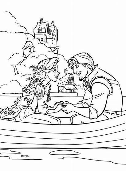 Rapunzel Coloring Pages Tangled Flynn Disney Princess