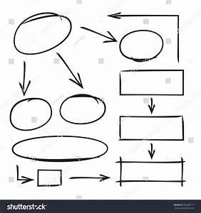 Hand Drawn Diagram Template Arrows Stock Vector 458608117