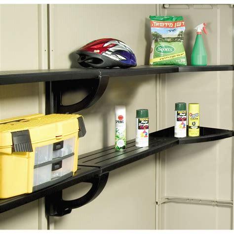 keter shelves for sheds keter 2 4m polypropylene shelving kit suits factor