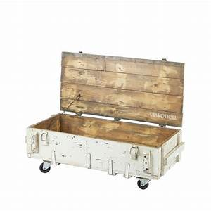 Coffre Exterieur Bois : table basse coffre en bois avec roulettes vt army by drawer ~ Teatrodelosmanantiales.com Idées de Décoration