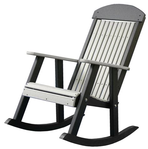 Porch Rocking Chair Plans by Poly Furniture Wood Porch Rocker Green Black Outdoor