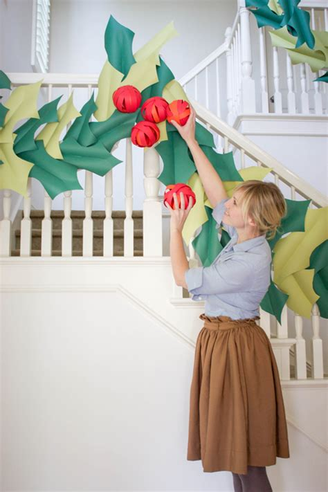 giant hollyberry diy oversized berry paper garland the house that lars built