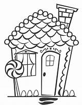 Coloring Sheet Gingerbread Printable Houses Candy Clipart Maison Colouring Sheets Clip Dessins Popular Library Sweet Crafts Template Coloringhome sketch template