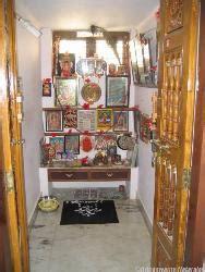 wall mounted glass  pooja mandir  shelves